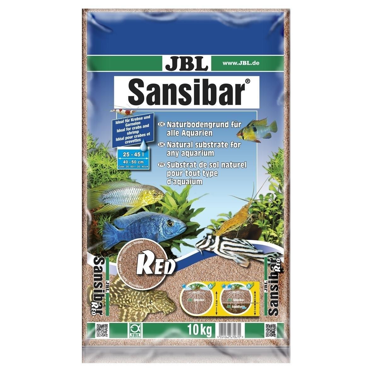JBL Sansibar RED Bodengrund für Süß- und Meerwasser-Aquarien, 10kg