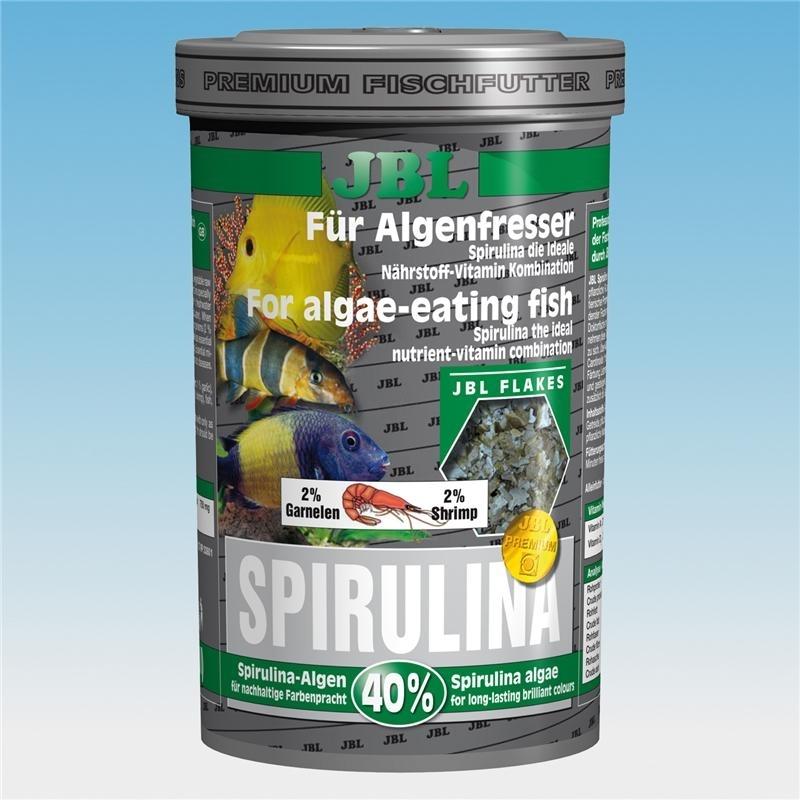 JBL Spirulina Hauptfutter für Algenfresser im Aquarium, 100 ml