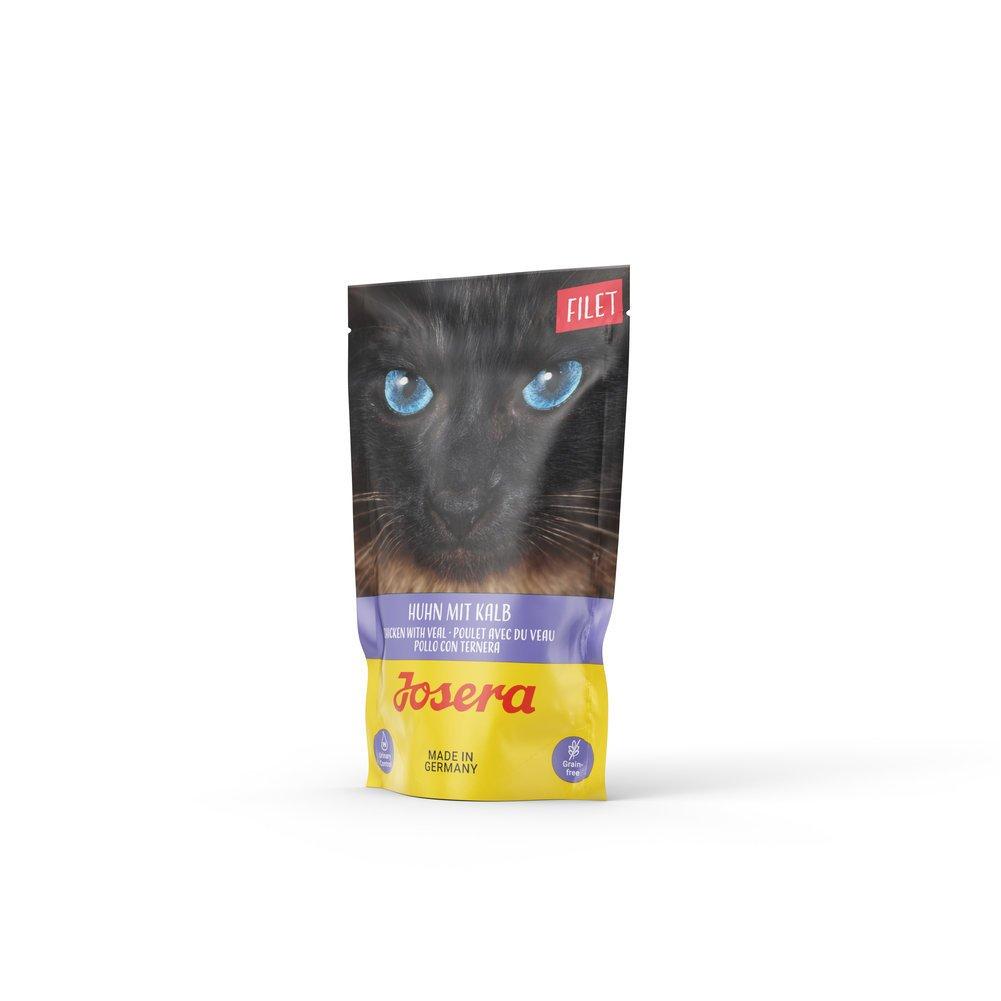 Josera Cat Filet Nassfutter für Katzen, Huhn mit Kalb 16x70 g