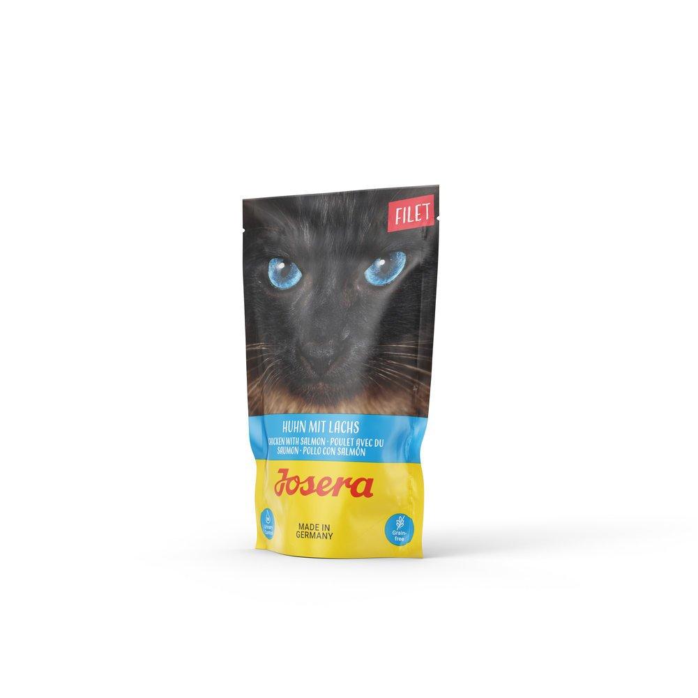 Josera Cat Filet Nassfutter für Katzen, Huhn mit Lachs 16x70 g