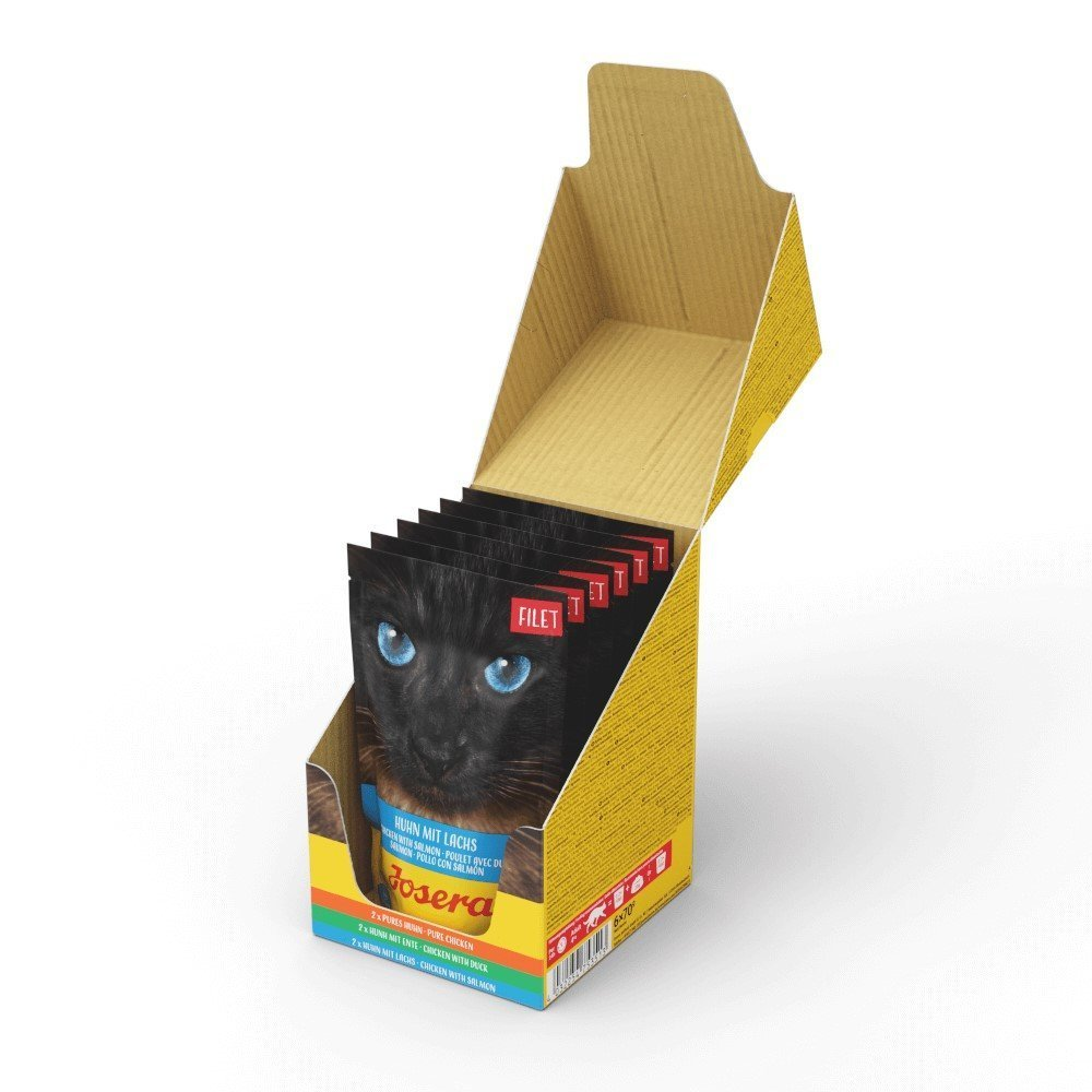 Josera Cat Filet Nassfutter für Katzen, Multipack 6 x 70 g