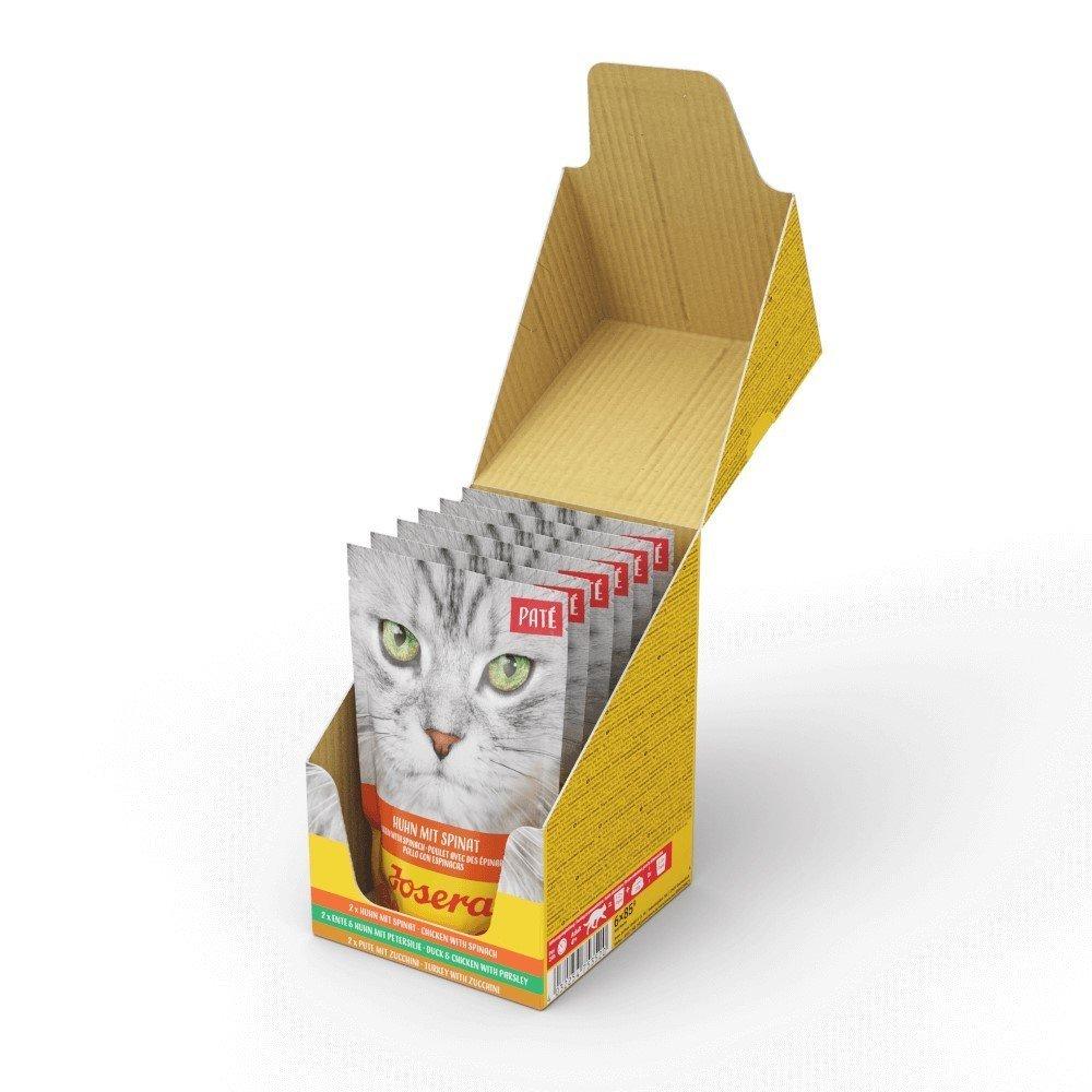 Josera Paté Nassfutter für Katzen, Multipack 6 x 85g