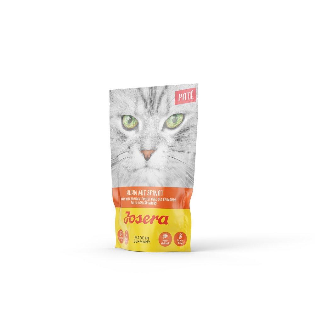 Josera Paté Nassfutter für Katzen, Huhn mit Spinat 16x85g