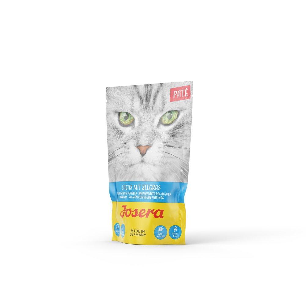 Josera Paté Nassfutter für Katzen, Lachs mit Seegras 16x80g