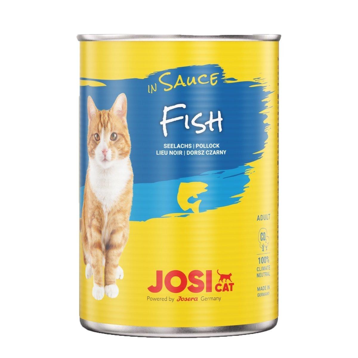 Josera Katzen Futter Josicat in Sauce, 12 x 415 g, Fisch