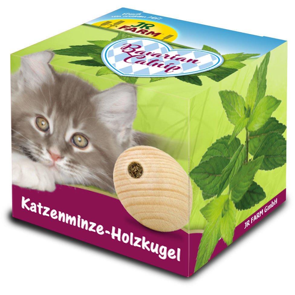 JR Farm Bavarian Catnip Katzenminze-Holzkugel
