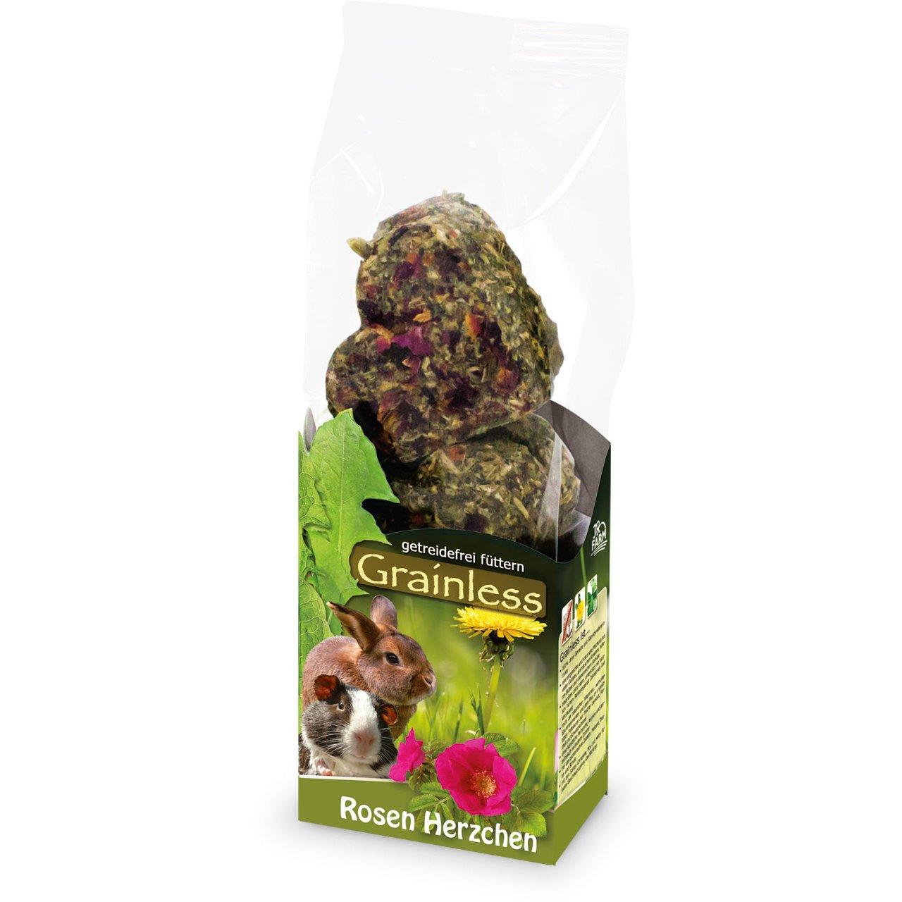 JR Farm Grainless Blumen Herzchen, Rosen Herzchen, 105 g