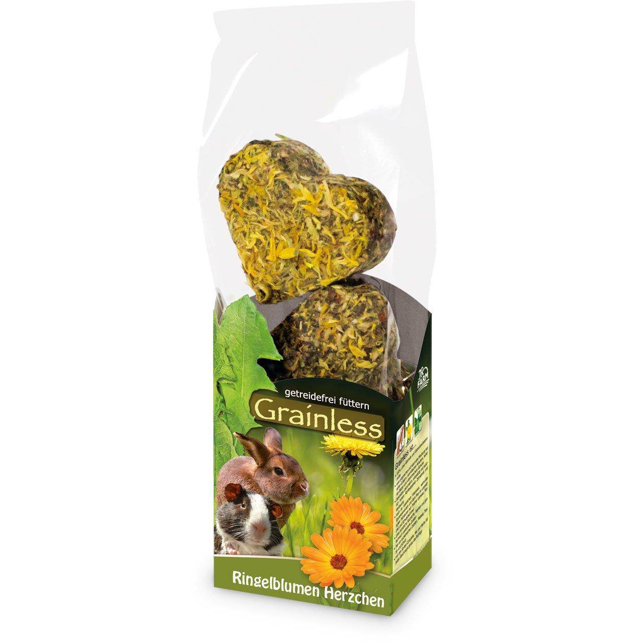 JR Farm Grainless Blumen Herzchen, Ringelblumen Herzchen, 105 g