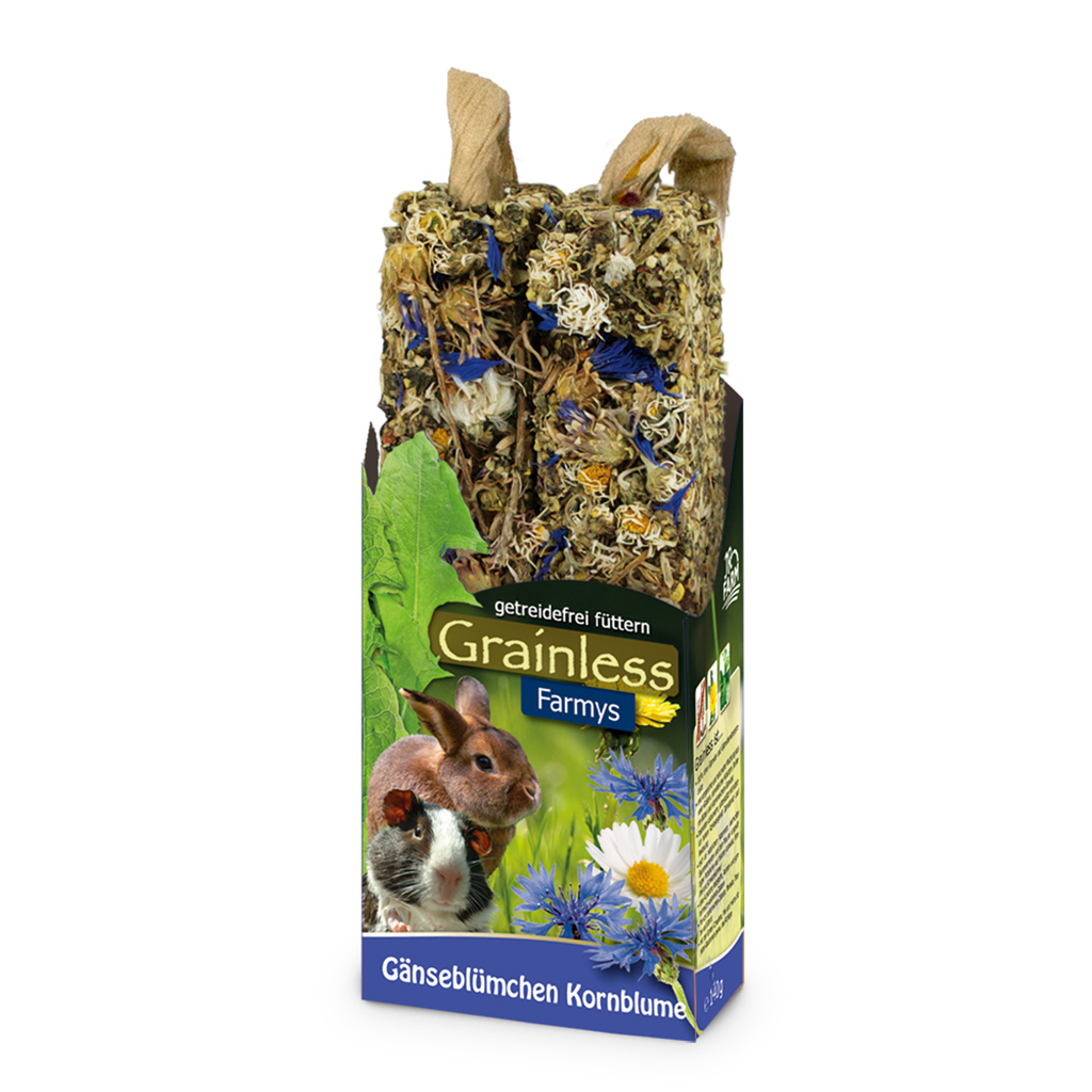 JR Farm Grainless Farmys Snack, Gänseblümchen-Kornblume 140 g