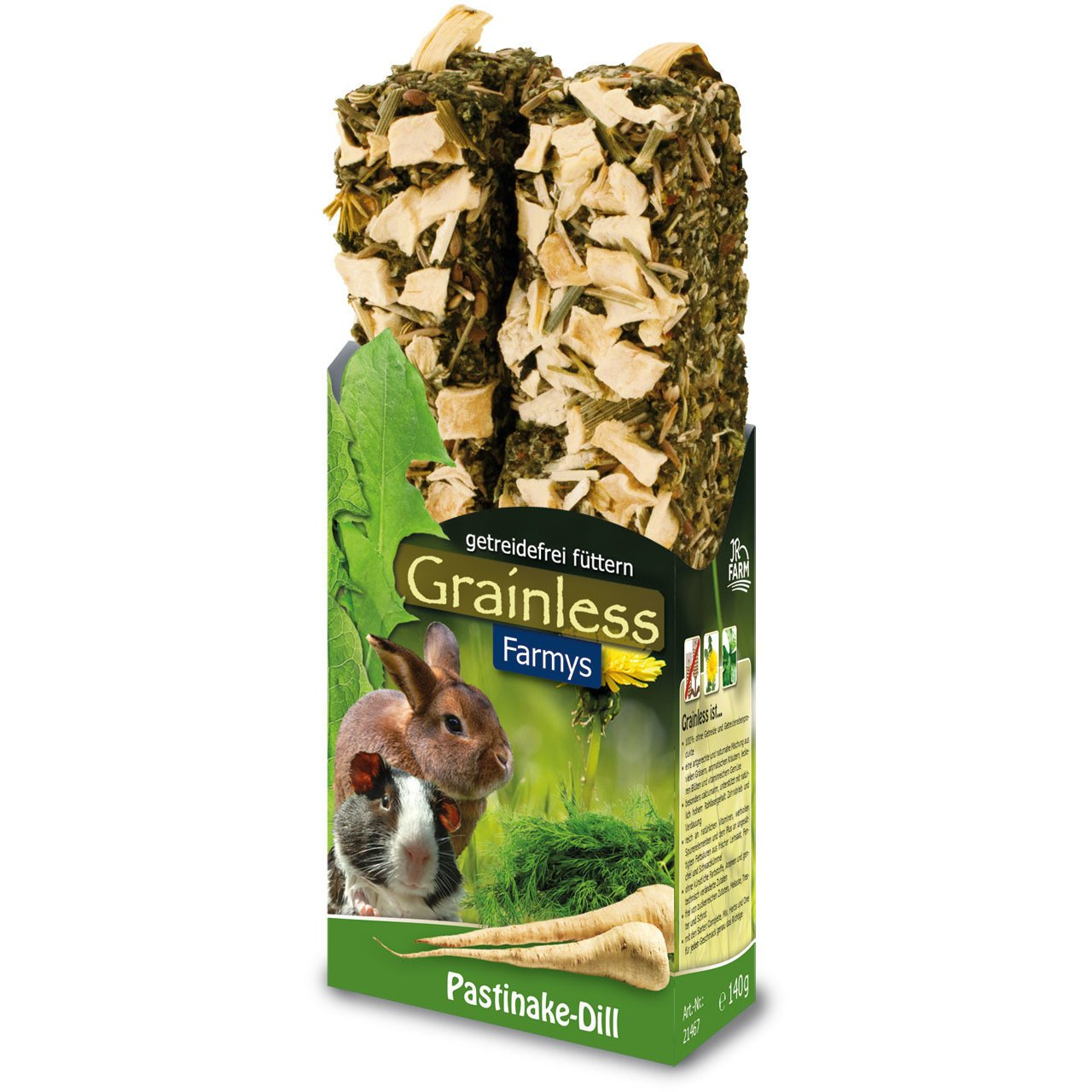 JR Farm Grainless Farmys Snack, Pastinake-Dill 140 g