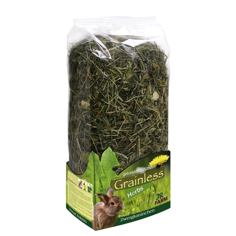 JR Farm Grainless Herbs Zwergkaninchenfutter, 400 g