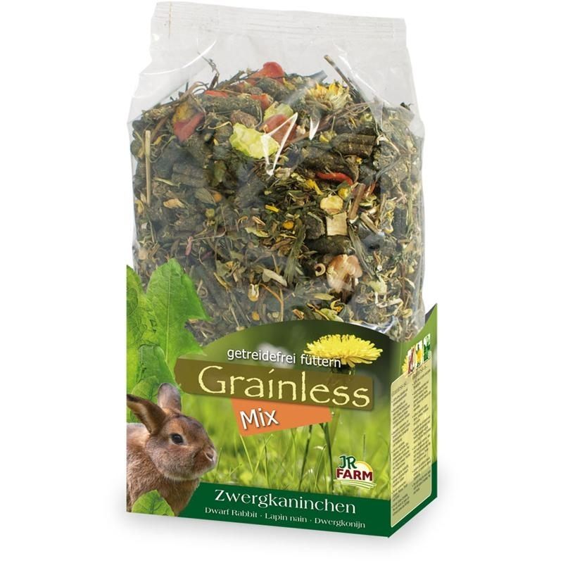 JR Farm Grainless Mix Zwergkaninchenfutter, 650 g