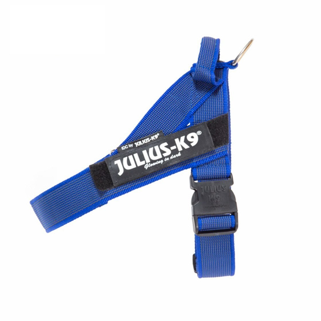 Julius K9 IDC Gurtbandgeschirr Color & Gray, Gr. 2 - Brustumfang: 67-94 cm, blau