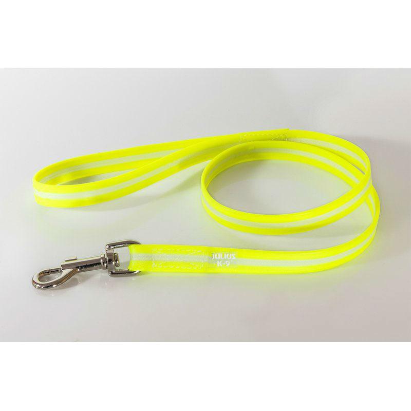 Julius K9 IDC Lumino Leine, 19mm / 2 m, ohne Schlaufe, neon gelb, phosphoreszierend