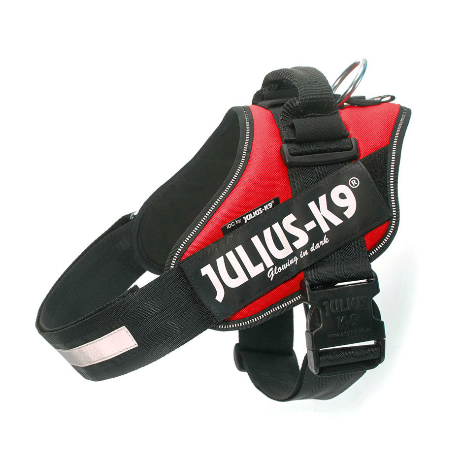 Julius K9 IDC® Powergeschirr® für Hunde, Baby 1: Brust 29-36 cm, Hundegewicht 0,8-3 kg, rot