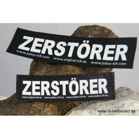 Julius K9 Logo Klettsticker groß M-Z, ZERSTÖRER