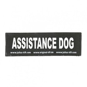 Julius K9 Logo Klettsticker klein A - F, ASSISTANCE DOG
