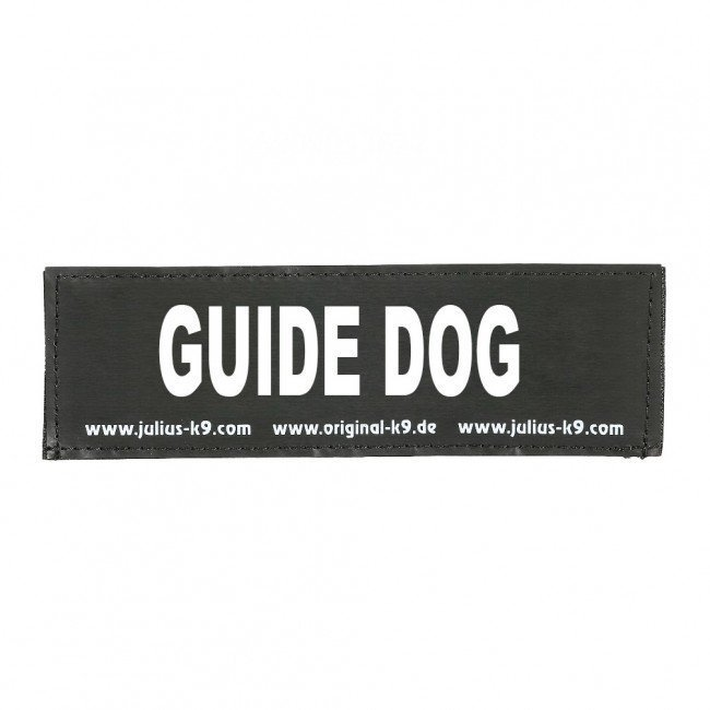 Julius K9 Logo Klettsticker klein G - L, GUIDE DOG
