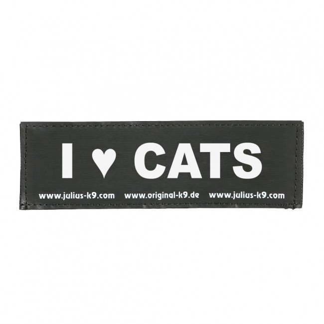 Julius K9 Logo Klettsticker klein G - L, I LOVE CATS