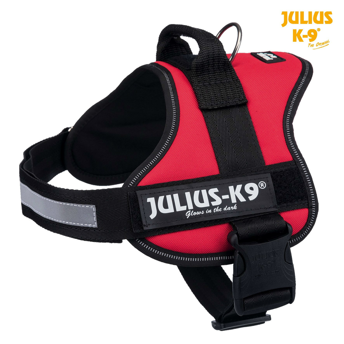 Julius K9 Powergeschirr Hundegeschirr, Gr. 3/XL: Brust 82-118 cm, rot