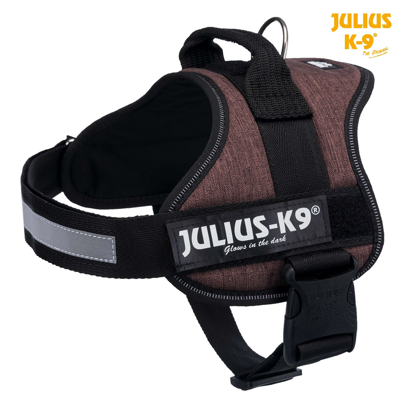 Julius K9 Powergeschirr Hundegeschirr, Gr. 3/XL–XXL: 82–116 cm/50 mm, mokka