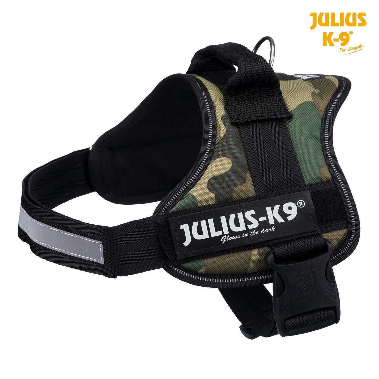 Julius K9 Powergeschirr Hundegeschirr, Gr. 3/XL: 82–118 cm, camouflage