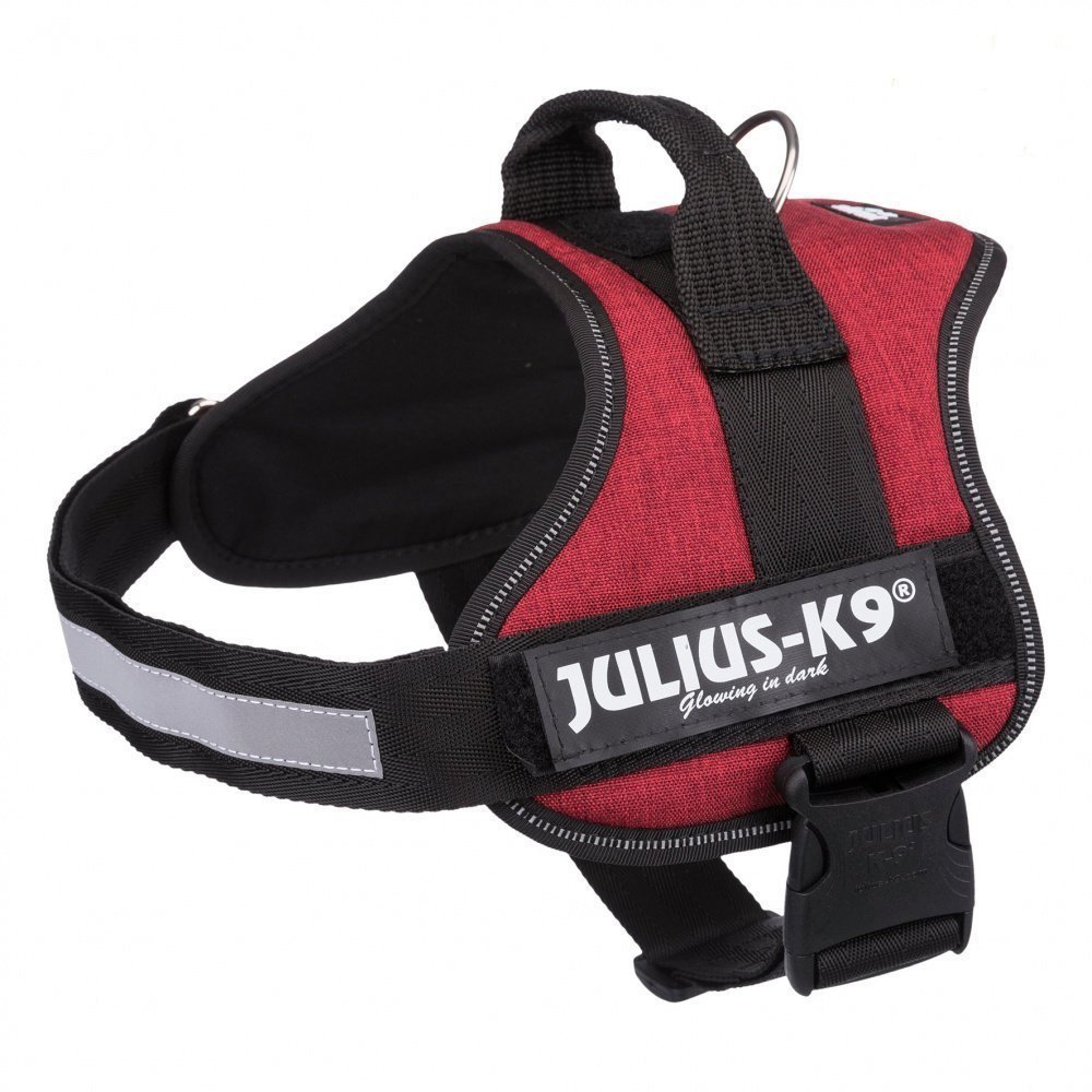 Julius K9 Powergeschirr Hundegeschirr, Mini-Mini/S: 40–53 cm/22 mm, burgund