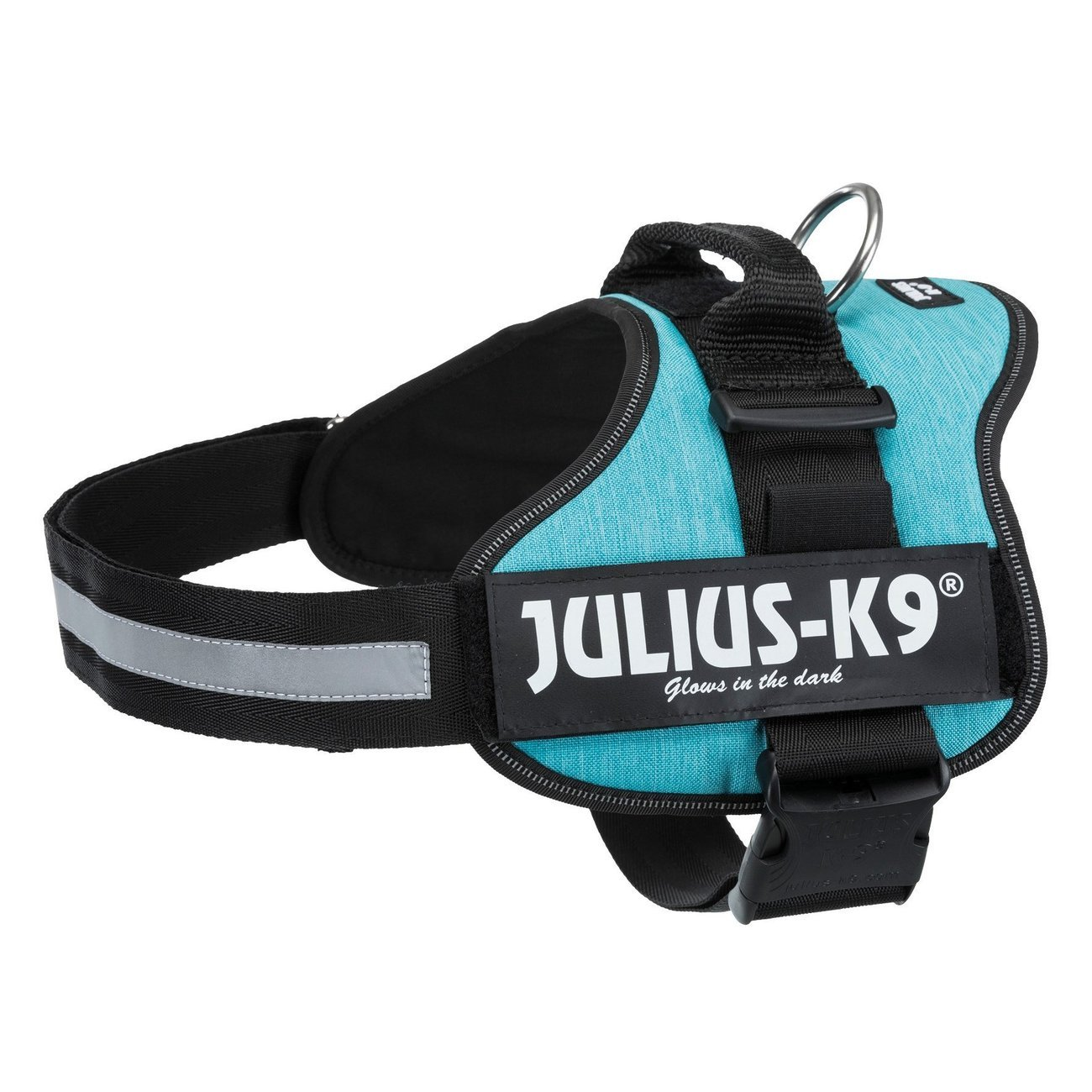 Julius K9 Powergeschirr Hundegeschirr, Mini-Mini/S: 40–53 cm/22 mm, ozean