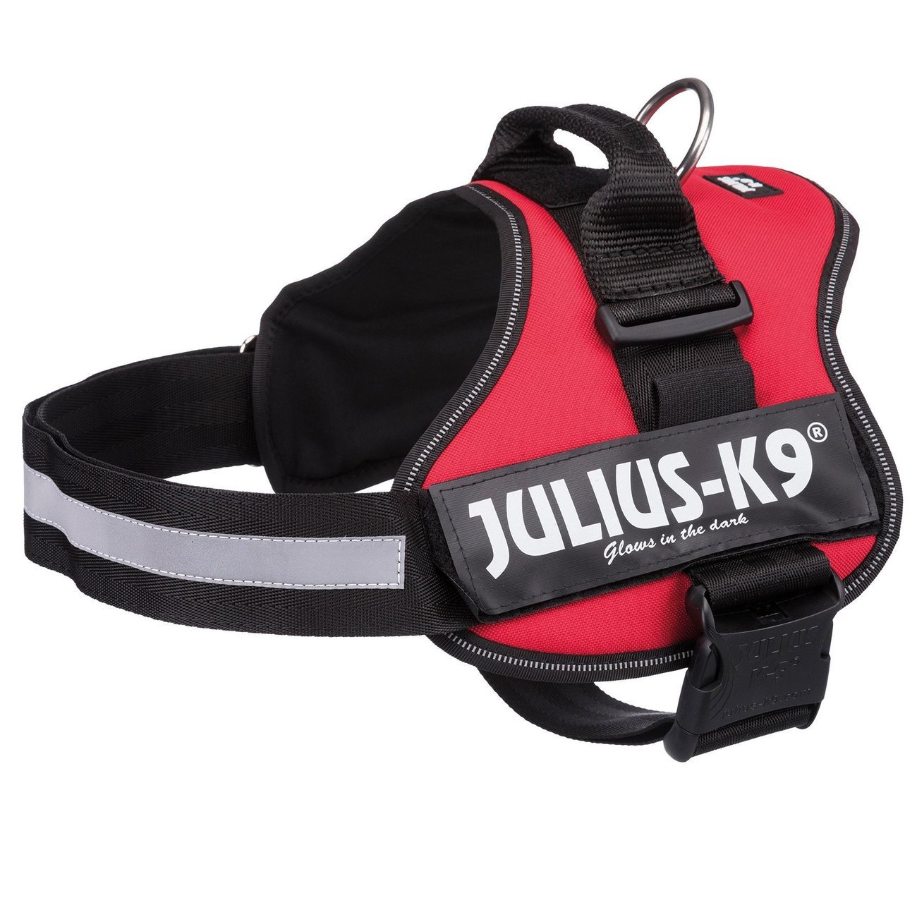 Julius K9 Powergeschirr Hundegeschirr, Mini-Mini S: Brust 40-53 cm, rot