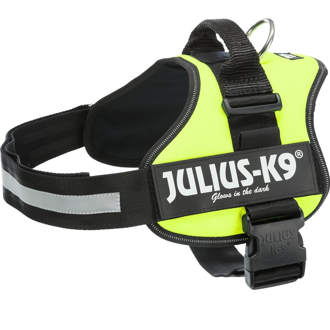 Julius K9 Powergeschirr Hundegeschirr, XS/Mini-Mini: 40–53 cm/22 mm, neongrün