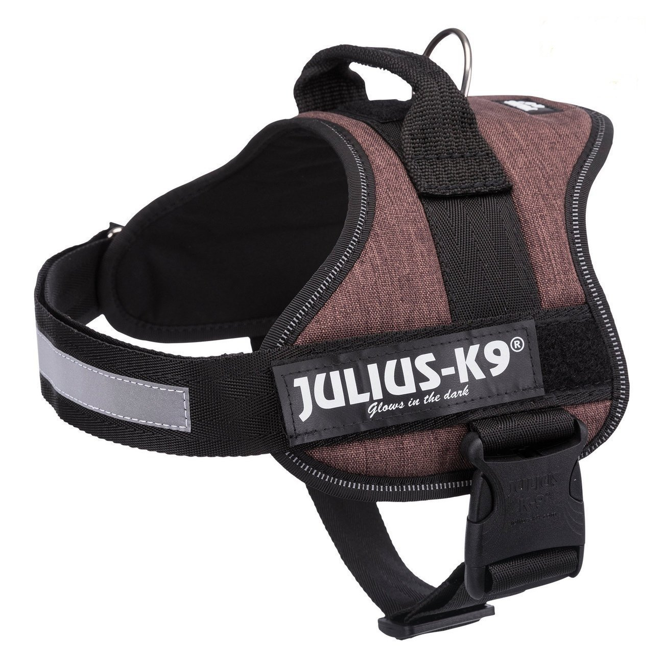 Julius K9 Powergeschirr Hundegeschirr, Mini-Mini/S: 40–53 cm/22 mm, mokka