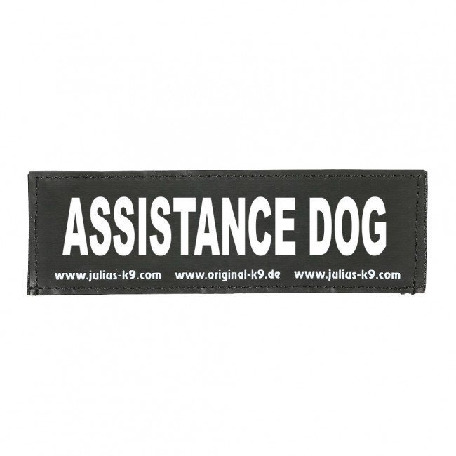 Julius K9 Logo Klettsticker groß A - F, ASSISTANCE DOG