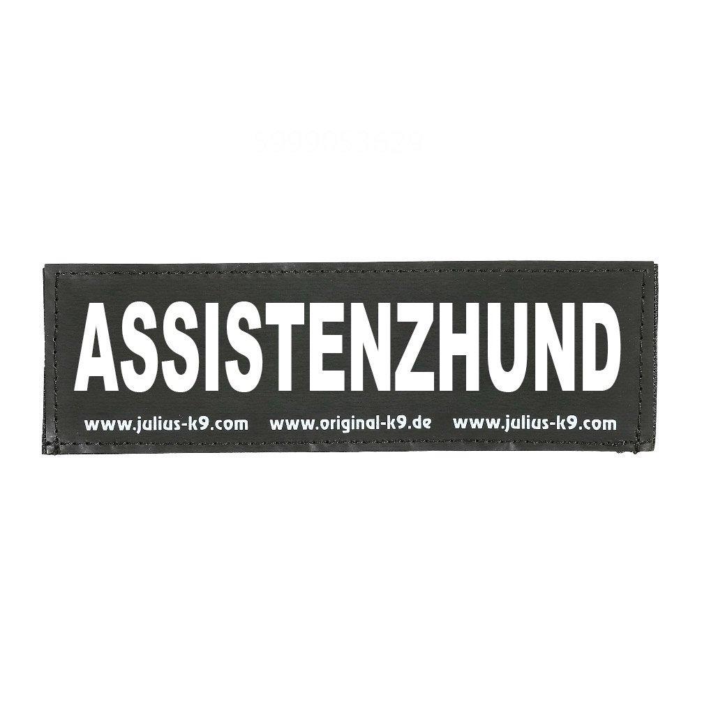 Julius K9 Logo Klettsticker groß A - F, ASSISTENZHUND
