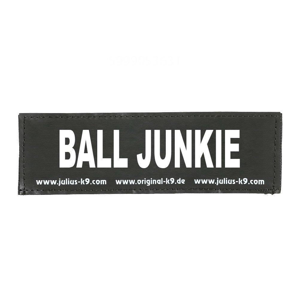 Julius K9 Logo Klettsticker groß A - F, BALL JUNKIE