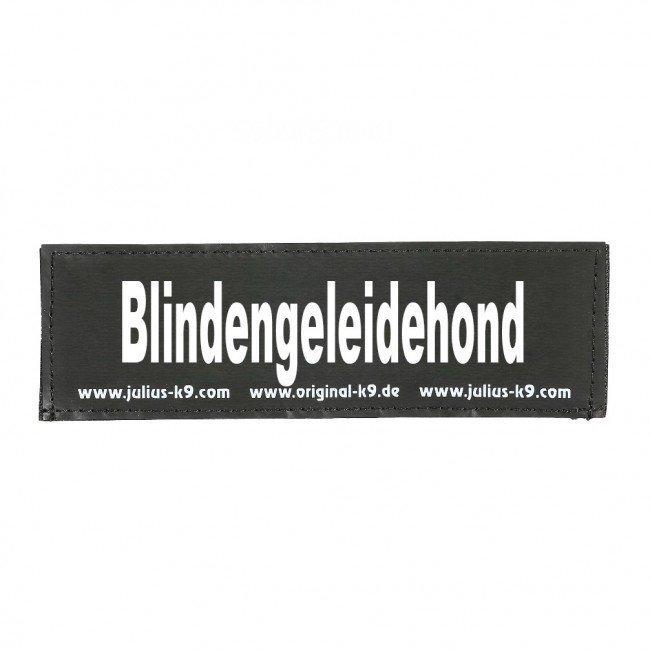 Julius K9 Logo Klettsticker groß A - F, Blindengeleidehond