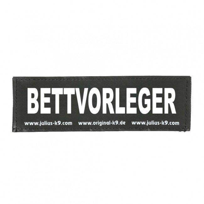 Julius K9 Logo Klettsticker groß A - F, BETTVORLEGER