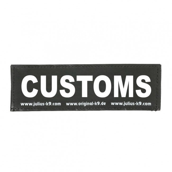 Julius K9 Logo Klettsticker groß A - F, CUSTOMS