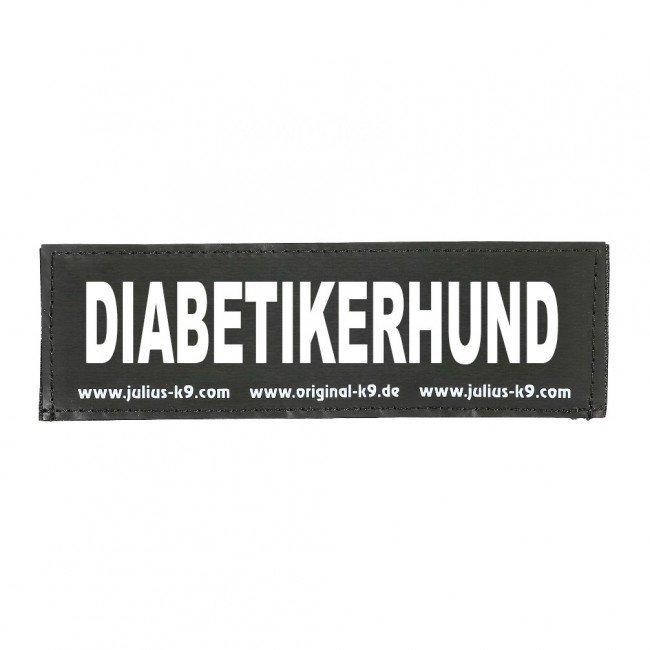 Julius K9 Logo Klettsticker groß A - F, Diabetikerhund