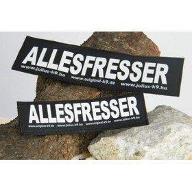 Julius K9 Logo Klettsticker groß A - F, ALLESFRESSER
