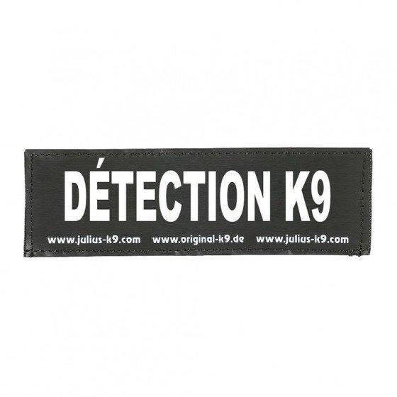 Julius K9 Logo Klettsticker groß A - F, DÉTECTION K9®