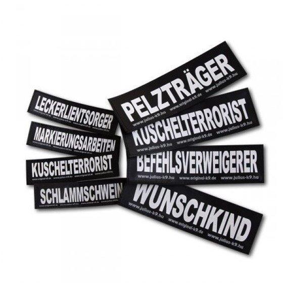 Julius K9 Logo Klettsticker groß A - F, BRINGDIENST