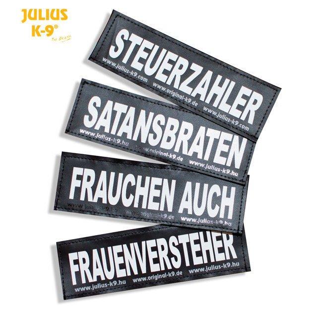 Julius K9 Logo Klettsticker groß M-Z, POLIZEI