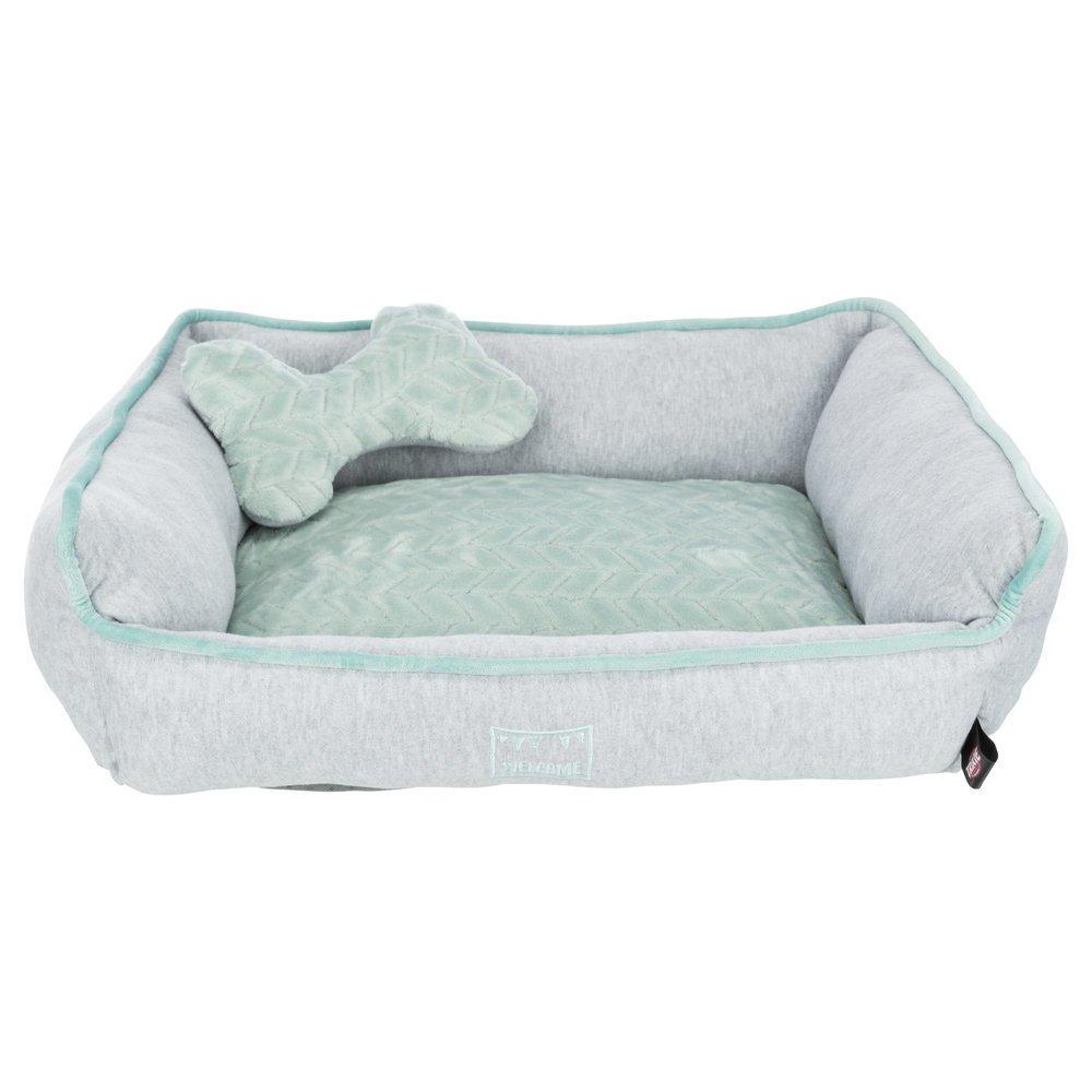 TRIXIE Junior Bett aus Plüsch für Welpen eckig 38250