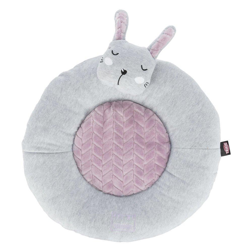 Trixie Junior Liegematte Hase oder Bär für Welpen, Ø 40 cm, flieder