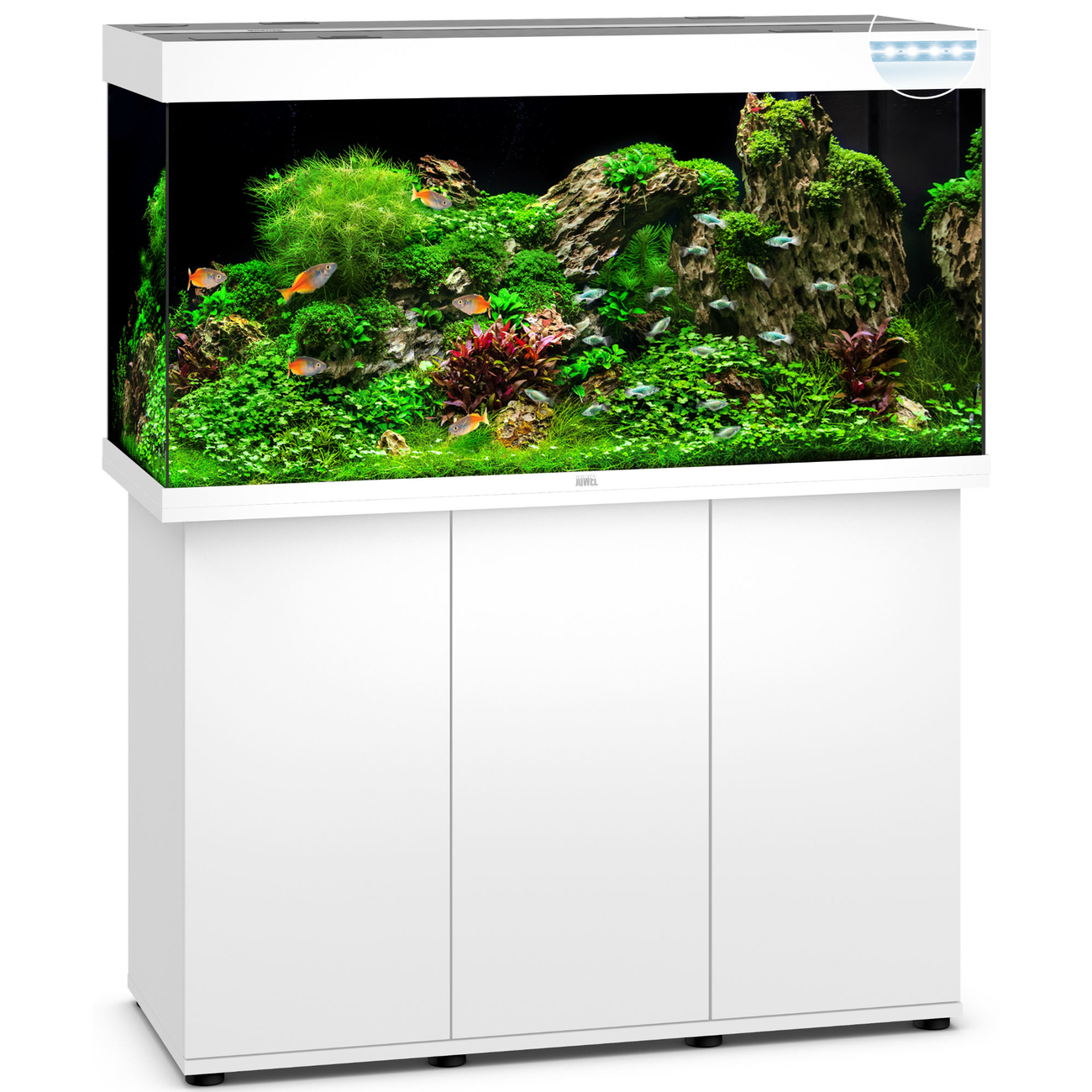 JUWEL RIO 350 LED Aquarium mit Unterschrank, 121 x 51 x (66+80) cm, weiß