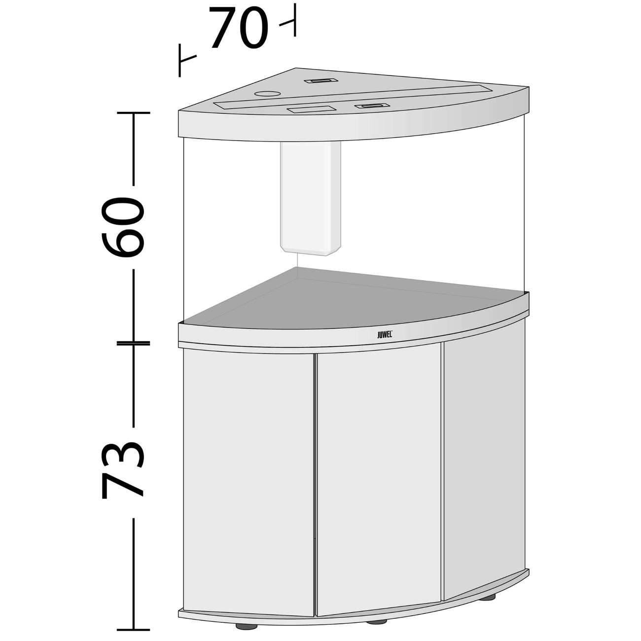 Juwel Trigon 190 LED Eck-Aquarium mit Unterschrank, Bild 5