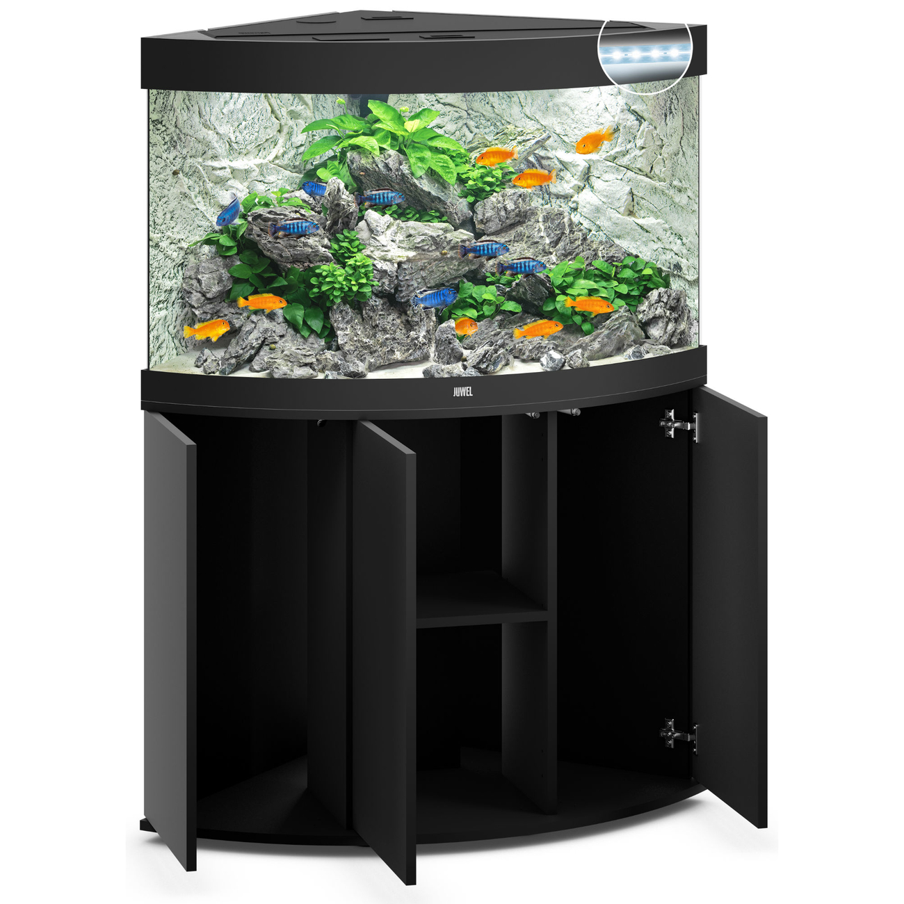 Juwel Trigon 190 LED Eck-Aquarium mit Unterschrank, Bild 2