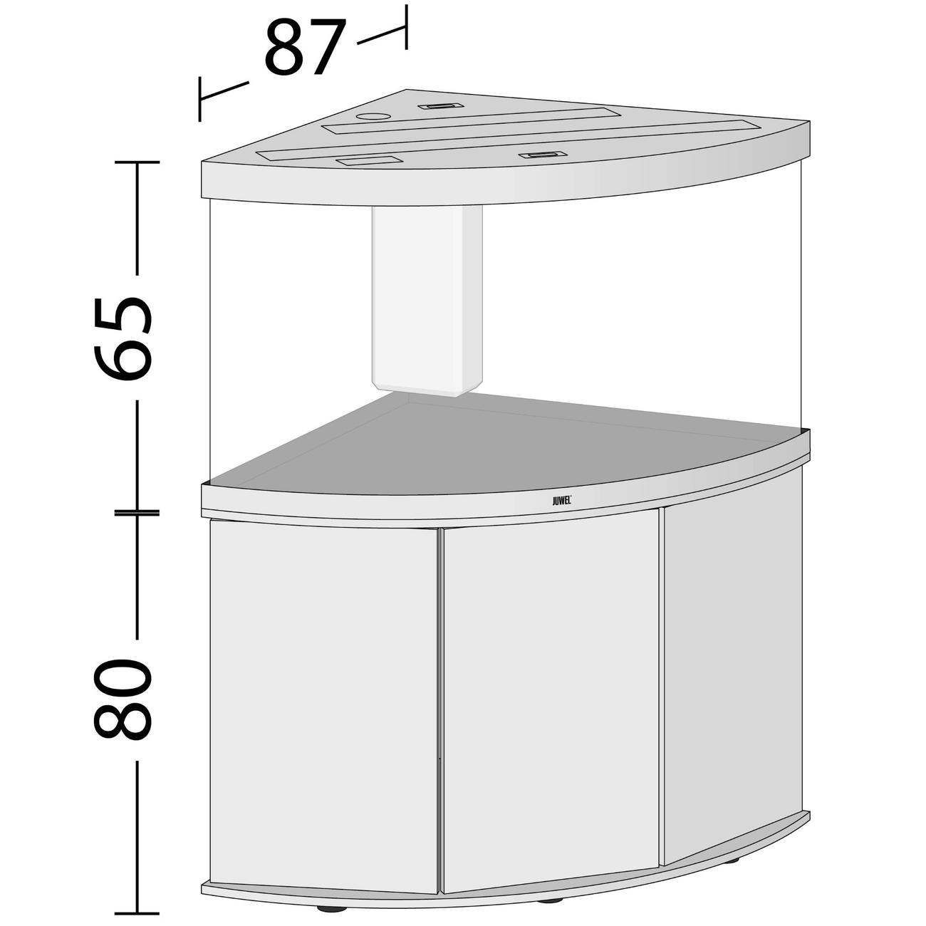 Juwel Trigon 350 LED Eck-Aquarium mit Unterschrank, Bild 5