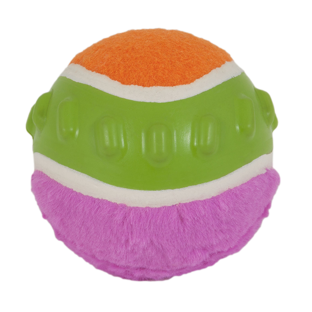 Petmate JW Pet Mixups Ribbed Ball Hundeball, Medium, 8 cm (pink, orange oder grün)