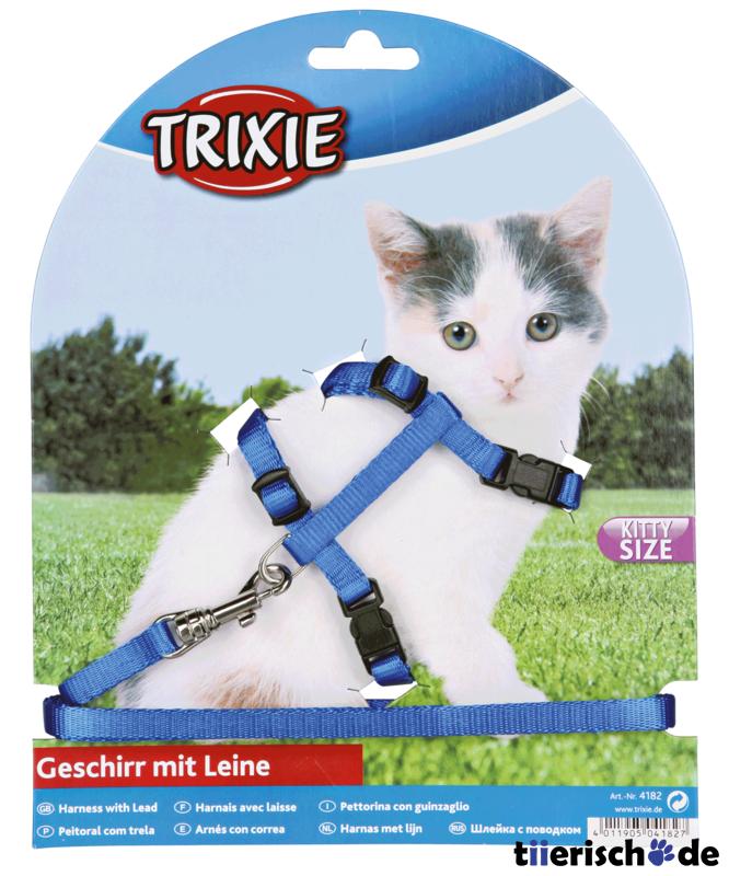Trixie Kätzchen-Garnitur Katzenleine mit Katzengeschirr 4182, Bild 2